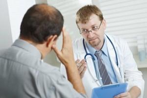 Консультация с врачом перед биопсией предстательной железы