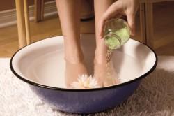 Горячие ванны для ног при кашле
