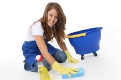 Влажная уборка для профилактики насморка