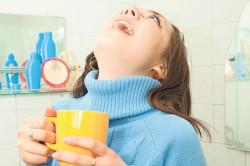Полоскание горла раствором пищевой соды