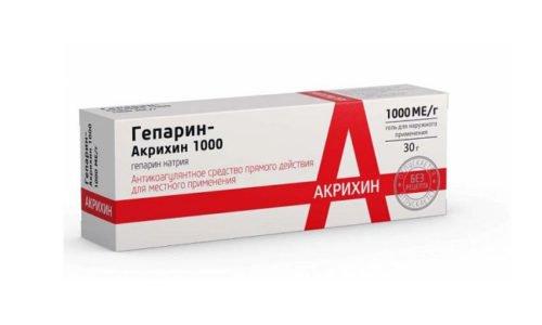 Основным аналогом при терапии геморроя является Гепарин-Акрихин 1000