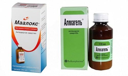 Чтобы облегчить симптомы при болезнях ЖКТ, врачи нередко назначают такие препараты, как Альмагель или Маалокс