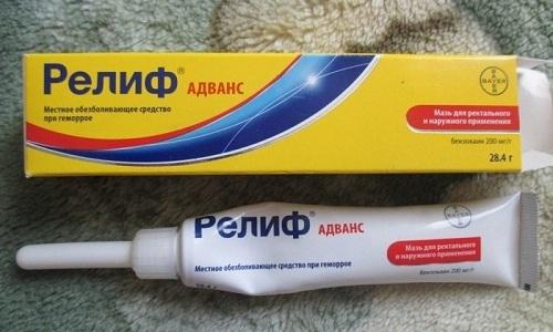 Препарат Релиф Адванс используют для лечения геморроя наружной и внутренней локализации